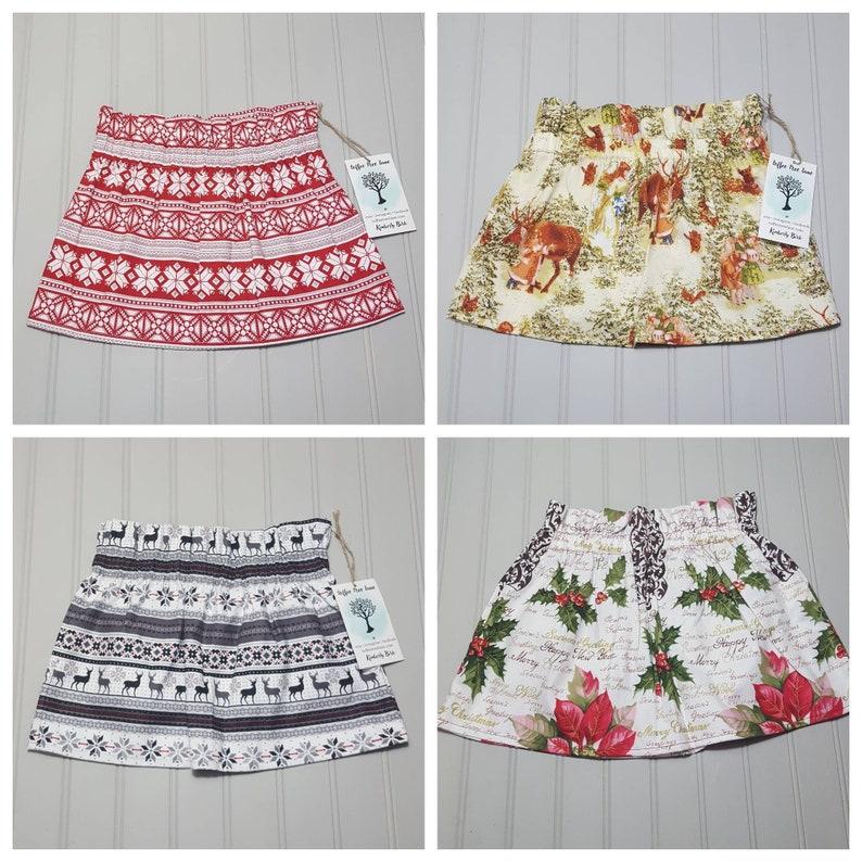 Girls Skirt  Christmas Skirt  Fair Isle Holiday Skirt for image 0