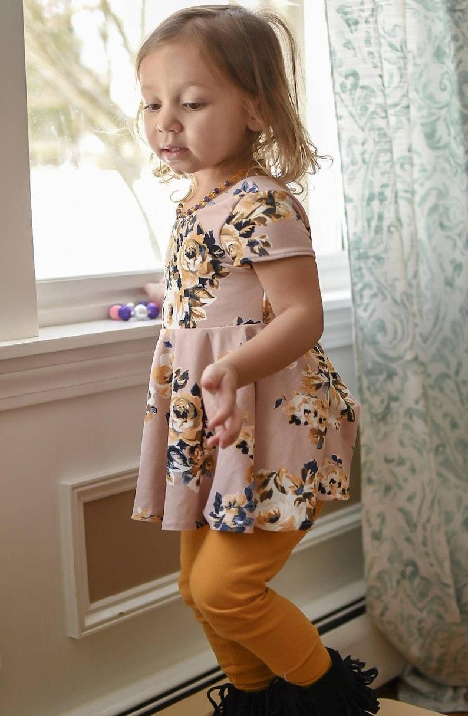Peplum top  Knit top for girls  Bohemian toddler  summer image 0