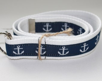 Kid/'s Nautical Canvas Belts-2 Colors
