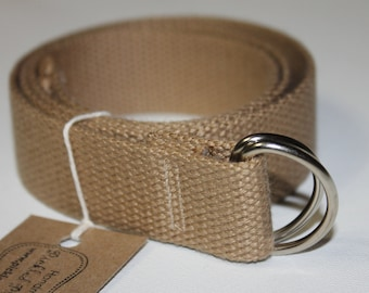 Teen Adult Khaki Cotton D-Ring Belt 9ce6ec1bea2