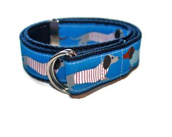 Blue Dachshund Belt Adjustable Belt for Children/Toddlers
