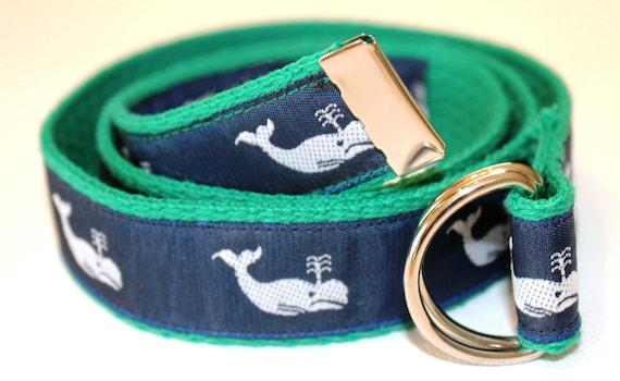 Children/'s Preppy Navy and White Whale Belt