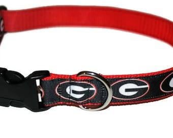 UGA Dog Collar-Adjustable