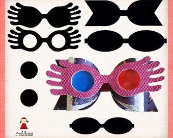 photograph regarding Luna Lovegood Glasses Printable identify Lunas gles Etsy