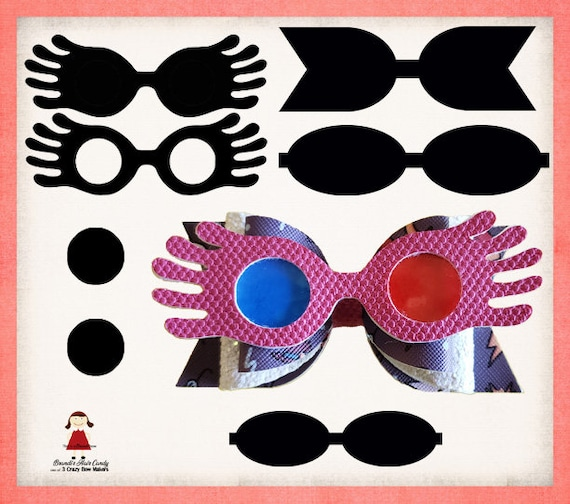 Wizard Inspired Luna Glasses Faux Leather Bow Template Svg Etsy
