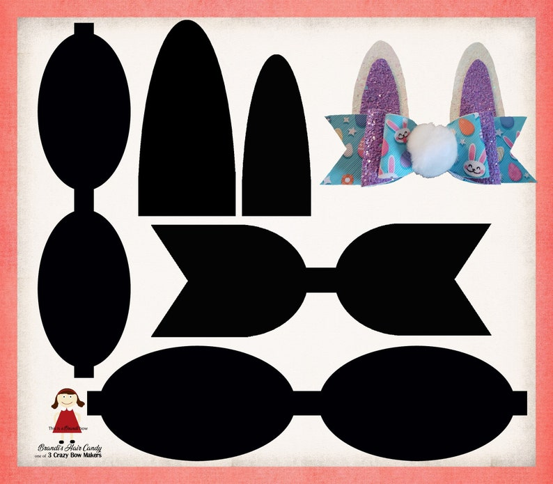 photograph relating to Bow Template Printable identify Fake leather-based bunny bow template printable pdf and svg