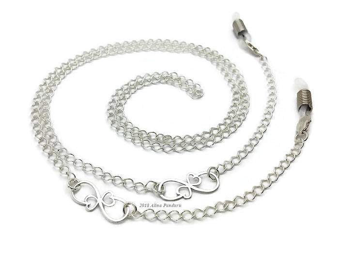 Luxury Silver Eyeglass Chain for Women Infinity Link Glasses