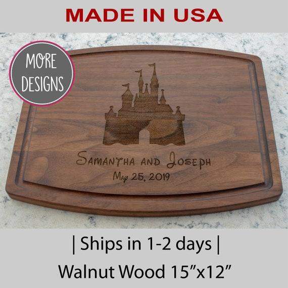 Disney Personalized Cutting Board Custom Cutting Board Personalized Wedding Gift  Disney wedding Bridal Shower gift