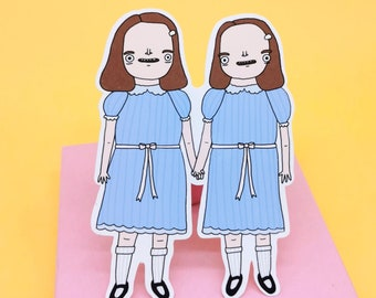 The Shining Twins Gloss Paper Sticker - Horror Movie Fans