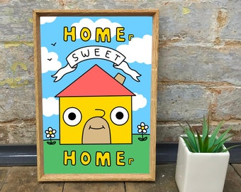 Home Sweet Home Print - House Warming Gift | A4