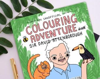 PRE ORDER - Eco Friendly Sir David Attenborough Colouring Book