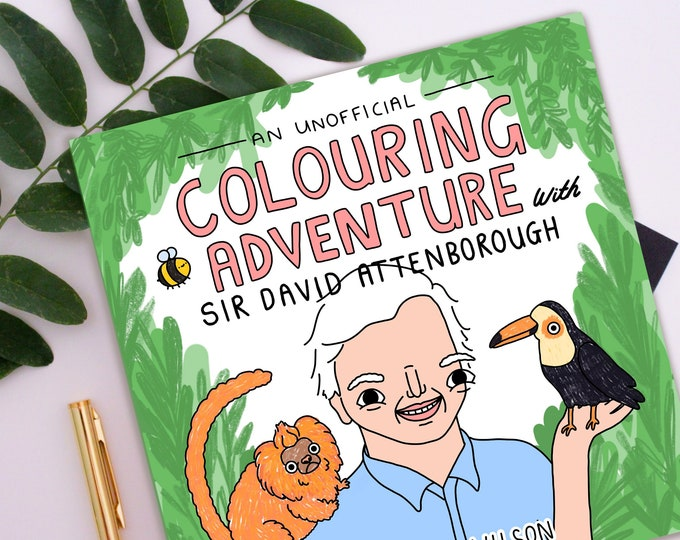 Featured listing image: PRE ORDER - Eco Friendly Sir David Attenborough Colouring Book