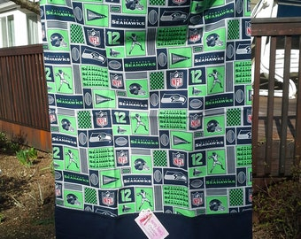 Seahawk Pillowcase with Navy Band