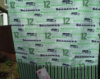 Seahawk pillowcase with stripe band