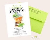 Kentucky Derby Party Invitation Run for the Roses Invitation Mint Julep Cup Invitation Horse Race Invitation Twin Spires 56