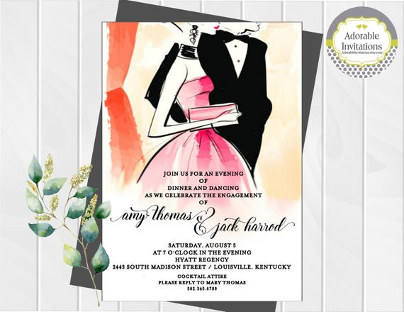 Formal dance invitation engagement party invitation after stopboris Choice Image