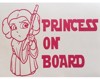Princess Maisy On Board Personalised Girl Car Sign Child Gift 001