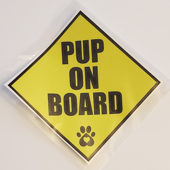 Poodle On Board paw print decal sticker dog puppy