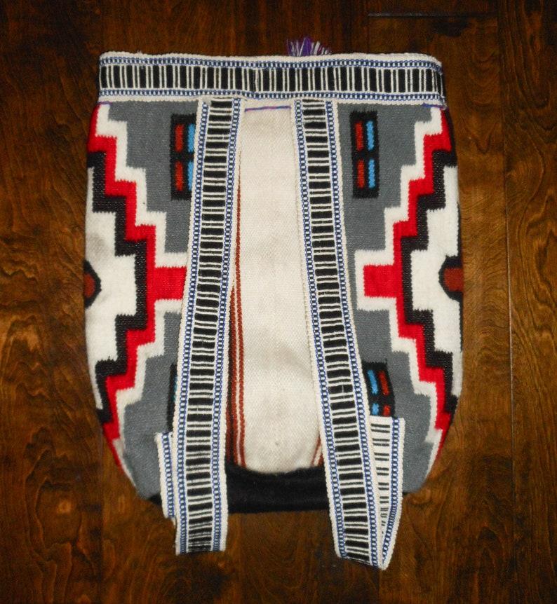 Aztec Tribal Mayan BACKPACK Purse Large Tote Shoulder Bag Festival Boho Hippie Bright Colors