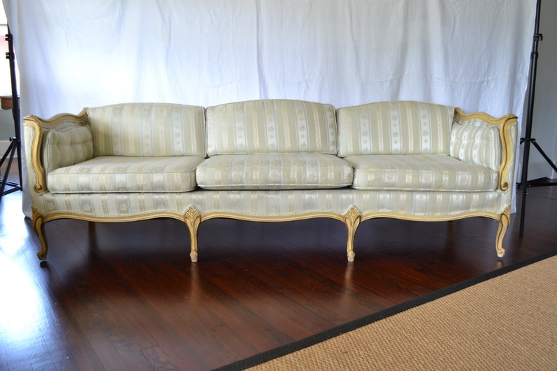 vintage french provincial sofa etsy rh etsy com french provincial sofas for sale french provincial sofa table