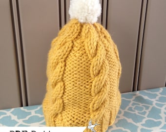Baby Cabled Hat PATTERN