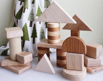 Teething Wooden Block Set   Wooden Blocks   Wooden Toys   Building Blocks   Toddler Toys
