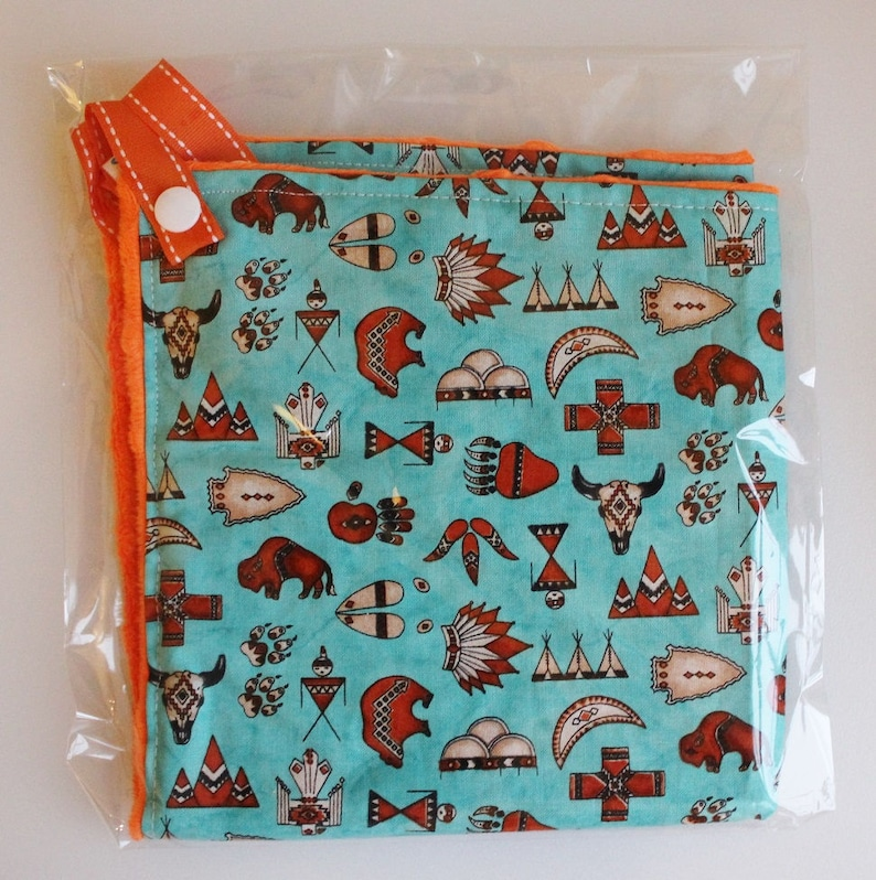 Baby Blanket Cactus Paci-Patch Pacifier Blanket Lovey Desert Paci-Patch Cactus Security Blanket