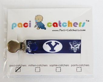BYU Paci-Catcher - Pacifier Clip - Pacifier Leash - Brigham Young University - BYU Cougars