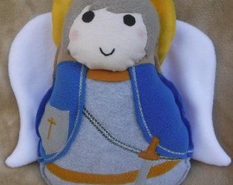 Saint Doll St. Michael the Archangel Soft Religious Catholic Toy