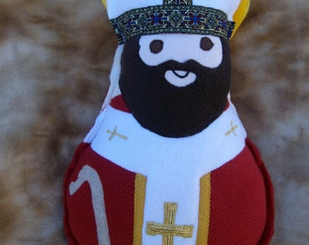 Saint Doll St Thomas Becket Soft Catholic Religious Toy
