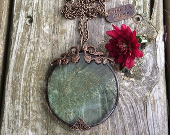 Magnifying Glass Necklace. Vintage Inspired. Steampunk Necklace.Gift for Mom Grandmother Teen Friend. Vision Helper.Reading Tool.Unique.Cool