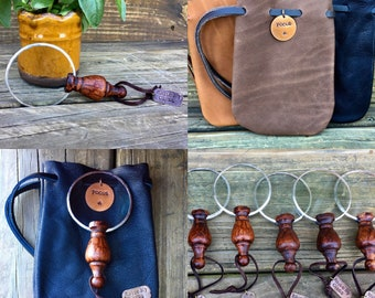 Small Magnifying Glass with Leather Personalized Pouch. Pocket or Purse Mini Magnifying Lens. Gift for Mom or Dad. Retirement Gift. Reading