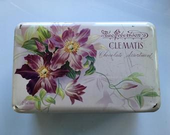 Vintage Chocolate Tin MacRobertson's Clematis
