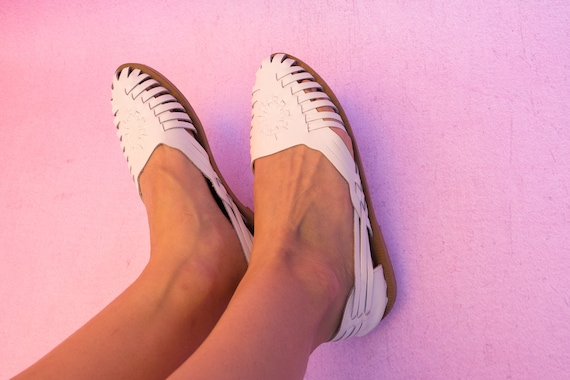 Womens Vintage ann des 9 Woodbridge Vintage chaussures Huarache sandales blanc sandales qTnxw81SY