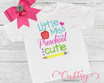 Preschool Embroidery Etsy