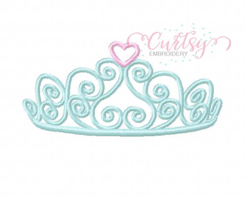 Crown Embroidery Design / Tiara Embroidery Design / Princess image 0