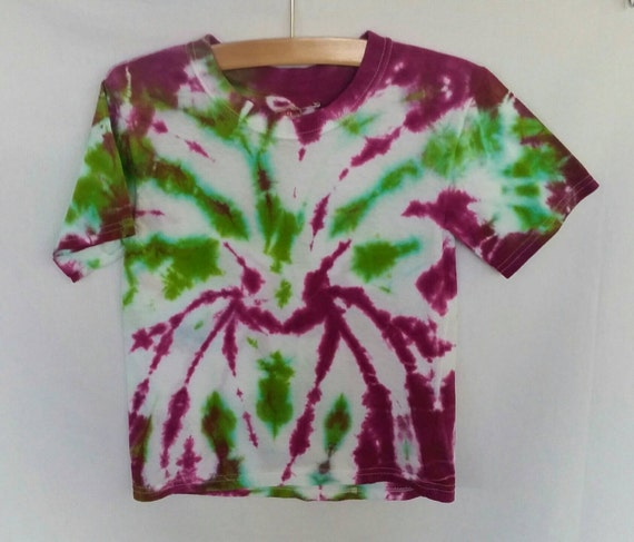 Hand Dyed Childrens Tie Dye T-Shirt