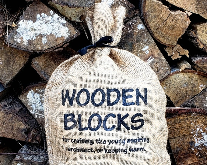 Wooden Building Blocks for children or crafts - Walnut, Maple, and Cherry Hardwood
