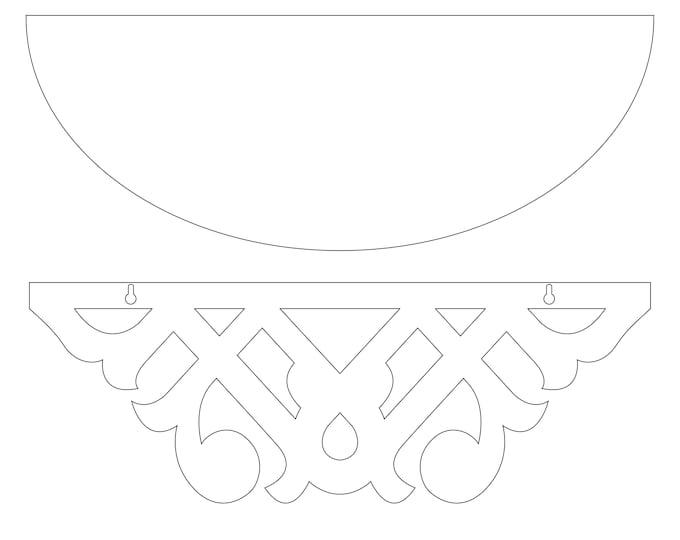 "CUSTOM 24"" Decorative Shelf for the bathroom vanity, bedroom, living room, or kitchen"