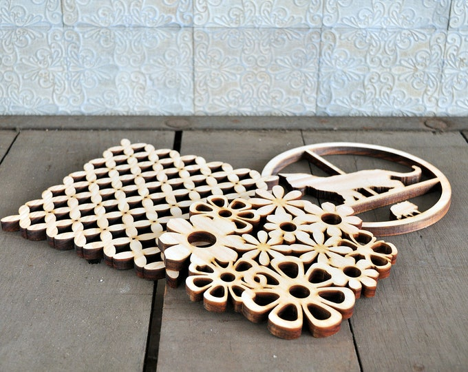 Waste-Not Wood Trivie. (responsible design) Trivet