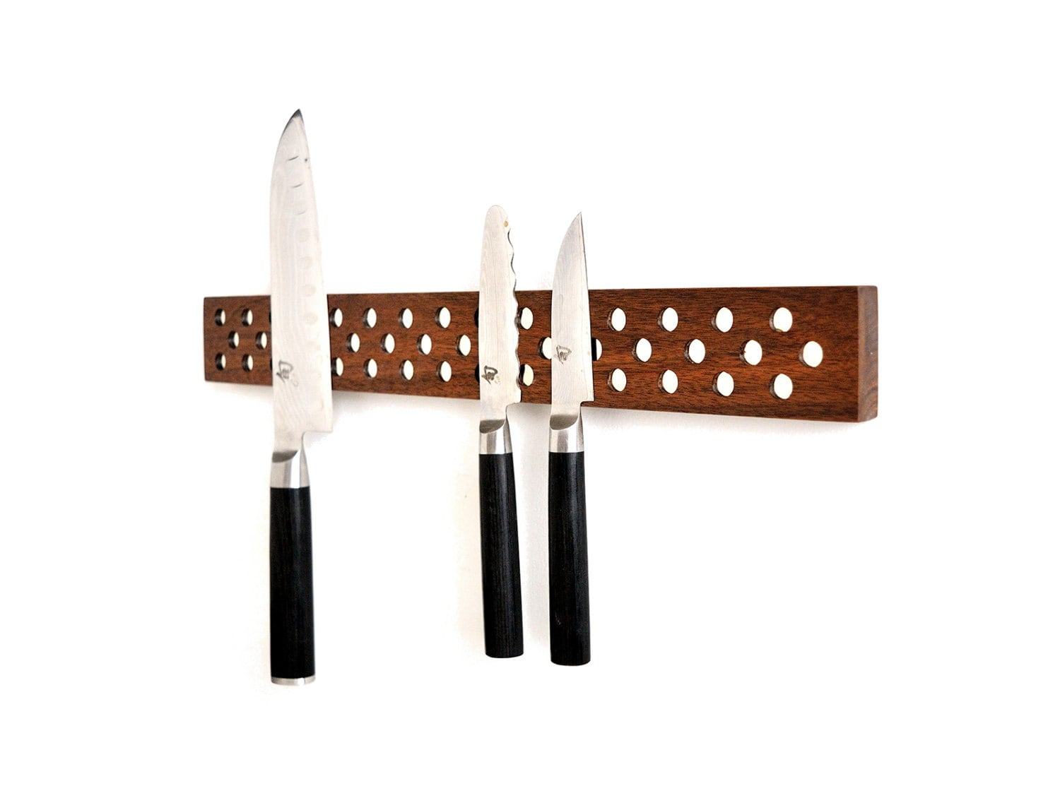 contemporary danish design inspired magnetic knife bar in walnut rh jonathanalden com
