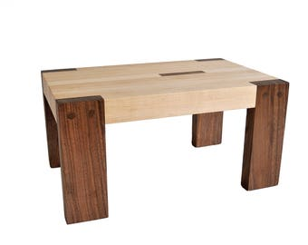 Walnut and Maple Step Stool, Contemporary Mission Style