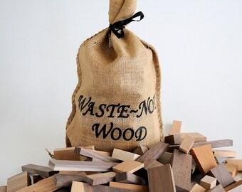 Waste~Not Wood, Wooden Building Blocks for children or crafts