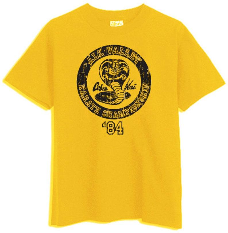 56df01998 Cobra Kai Karate Kid Gold Yellow T-Shirt | Etsy