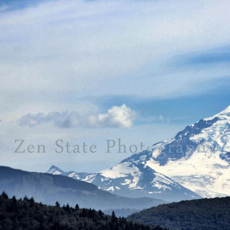 Snowy Mountain Photography Print of Mount Baker. Mountain image 0