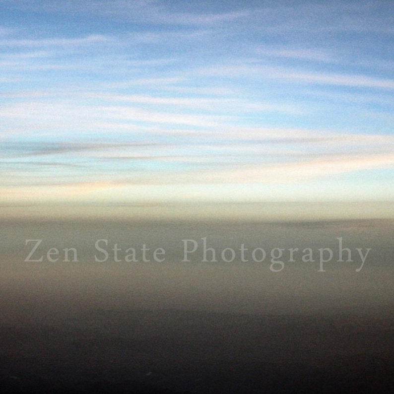 Abstract Horizon Sky Photo Pastel Pink Blue Clouds Gray Fog image 0