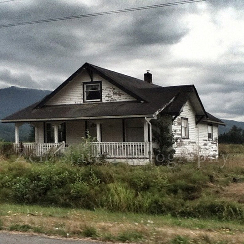 Rustic House Photo Print. The Lonely House Photography Print. image 0