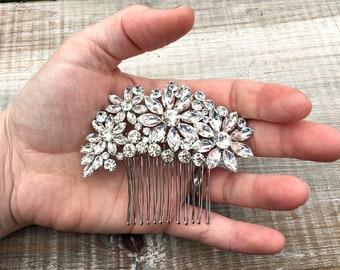 Bridal hair comb, wedding hair accessories, silver comb, bridal hair accessories, bridal hair piece, rhinestone hair comb,  bridal hair clip