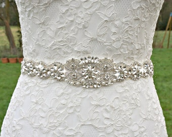 Bridal sash, bridal belt, sash belt, rhinestone sash, pearl crystal sash, wedding dress belt, great gatsby wedding, wedding belt, dress sash