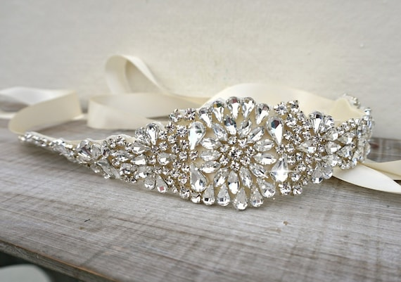 Bridal Belt Bridal Sash Great Gatsby Vintage Bridal Sash Etsy